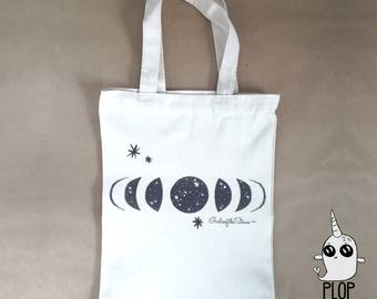 Moon Phases Canvas Book Bag
