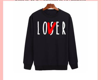 Pennywise 2017, Pennywise Sweatshirt, The Losers Club Shirt, Loser Club Shirt, Loser Sweatshirt, Pennywise Shirt Womens, Loser lover Shirt
