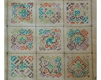 MOTIF MADNESS 2 Counted Cross Stitch Pattern / Chart - make one or two motifs or make them all - modern / geometric  embroidery design