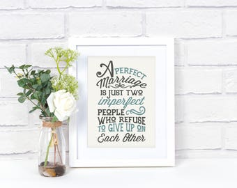 Marriage Quote Wall Art - Marriage Quote Sign - Marriage Quote Print - Marriage Sign - Marriage Wall Decor - Marriage Artwork