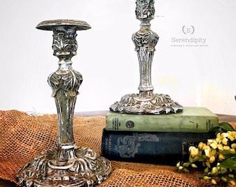 Ornate  vintage style Candle sticks