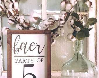 family party of wooden sign