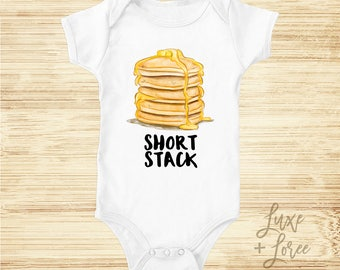 Short Stack, Pancake, Funny, Food Bodysuit, Cute Baby Clothes, Baby Bodysuit, Baby Shower Gift, Short Stack, Graphic Tshirt, Boho