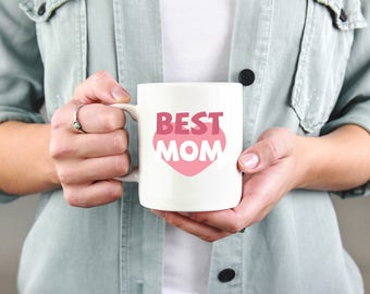 Best Mom Heart Coffee Mug