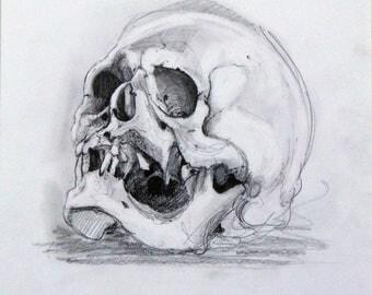Gibbon dessin squelette dessin original oeuvre originale for Histoire macabre