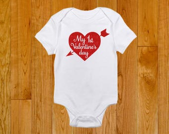 My First Valentine's Day - Baby's First Holiday - Baby's 1st Valentine's Day