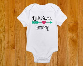 Little Sister Shirt - Personalized with Name - Matching Sister Shirts - Middle Sister Shirt - Big Sister Shirt - Shirts for Sisters
