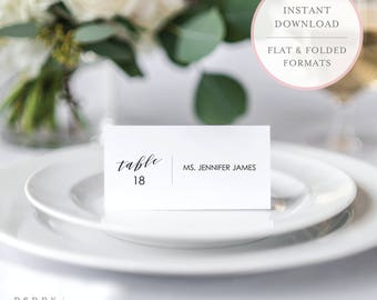 Printable Place Cards. Printable Placecards. Place Card Template. Place Cards Printable. Place Card Tags. Printable Wedding Place Cards (SH)