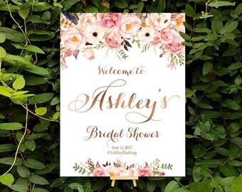 bridal shower banner, Bridal Shower Welcome Sign, Bridal Shower sign, Bridal Shower decorations, bridal shower decor - US_BSc2