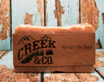hot process soap, manly soap, beer soap, rustic soap, handcrafted soap, soap for men, kitchen soap, homemade soap, shower soap,  handmade