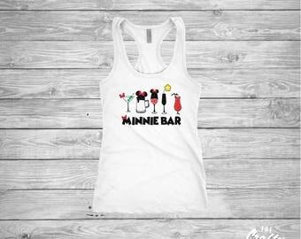 Minnie Bar shirt - Minnie Mouse - Drinking Shirts - Epcot Food and Wine - Disney - Ladies