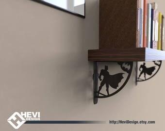 BATMAN shelf bracket, industrial, metal shelf bracket, shelf support, shelf holder, shelf hanger, kids room