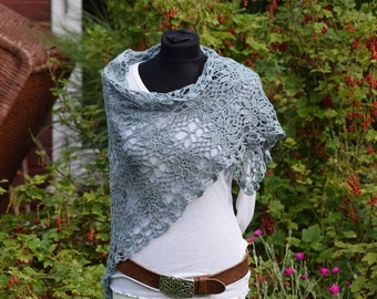 "Stole ""Stine"", shawl, scarf crochet"