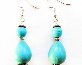 Earrings blue 17620 South seas