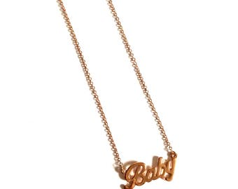 """Rose Gold """"Baby"""" Necklace"""