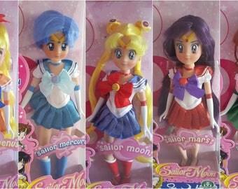Complete Set of Cute Italian Sailor Moon , Mercury , Mars , Jupiter & Venus Dolls Sailor Scouts Figure Collection Toys