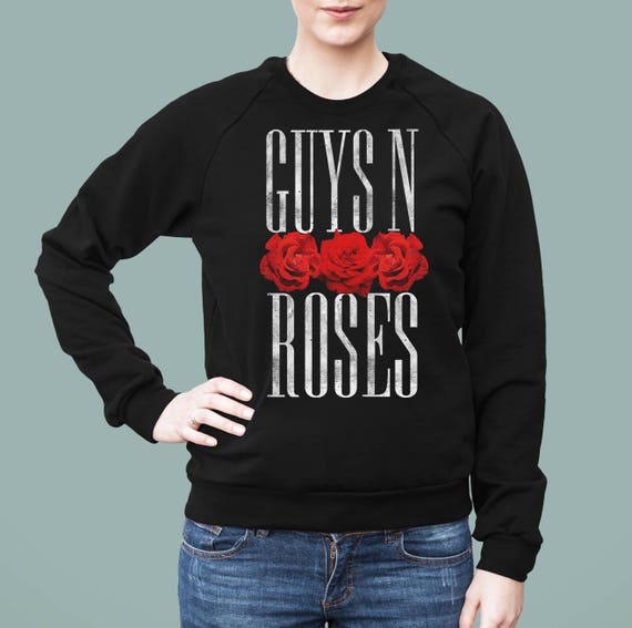 Guys 'N Roses | American Apparel Unisex California Fleece Raglan | Rock music pun Guns 'N Roses | Gay Pride | Axl Rose | ZuskaArt