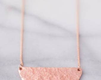 Half Moon Copper Pendant