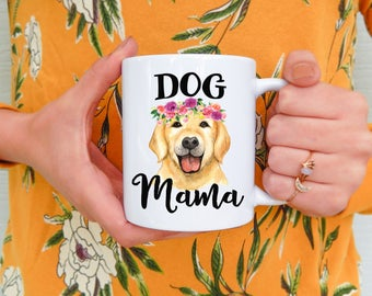 Dog Mama Mug | Dog Mom Mug, Dog Mug, Funny Dog Mug, Dog Owner Mug, Dog Owner Gift, Dog, Golden Retriever, New Dog Owners, Dogs, Puppy,