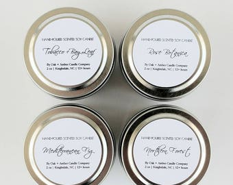 SAMPLER SET - PICK 4 | Soy Candle | Scented Candle | Gift Set | Custom Gift | Candles | Candle Set | Candle Gift
