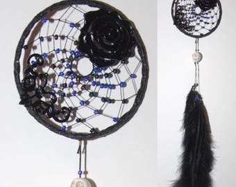 Black Gothic Rose Dreamcatcher