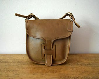 Vintage Coach Small Courier Pouch Putty Taupe Made in NYC