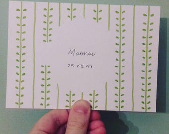 Personalised Birth Announcements - New Baby