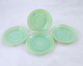 "Jadeite Alice Pattern 6"" Plates, Set of 4"