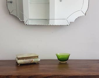 Barbola Flower Topped Vintage Mirror With Tiny Scalloped Edge So Pretty