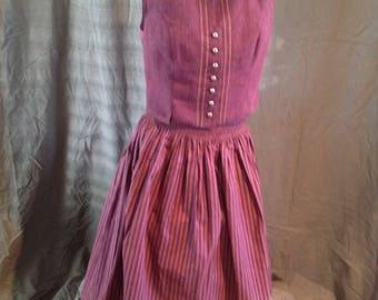Vintage Tratchen Julius Lang Dirndl Skirt & Vest Austria Folk Wear