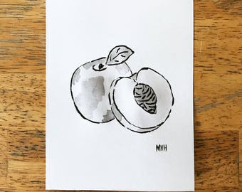 Peach Ink Drawing