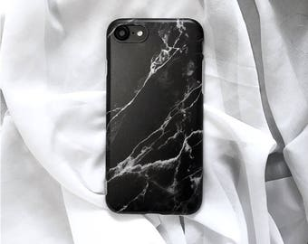 Black marble iphone case , marble phone case, matte phone case, iphone 6, iphone 6 plus, iphone 7, iphone 7 plus