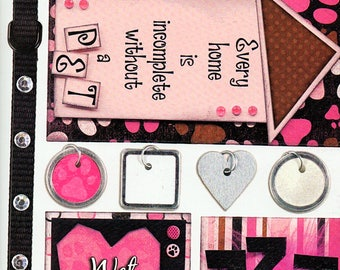 Cat Dog Titles Tags Borders Bo Bunny  Cardstock Scrapbook Stickers Embellishments Card Making