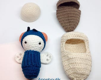 Fly crochet doll and accessories / child's toy