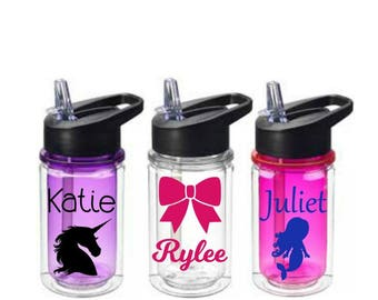 Kids Water Bottles, Personalized Water Bottle, Kids Party Favors, Gift Idea for Kids, Personalized Kids Tumbler, Stocking Stuffer for Kids