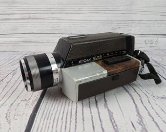 Untested Vintage Kodac XL55 Movie Camera Ektar Zoom Lens Made in USA