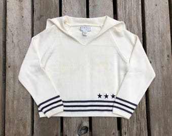 Vintage Cropped Sailor Sweater