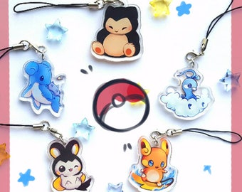 Pokemon 1.5inc Double Sided Acrylic Charms