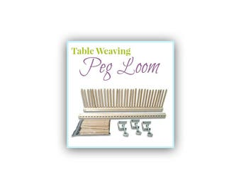 Peg Loom, Table Weaving, Looms for Children, Beginner's Loom, Peg Weaving Loom