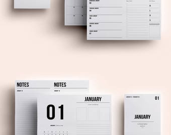 B6 TN Insert | B6 TN Printable | B6 TN Printable Insert | B6 Insert January 2018