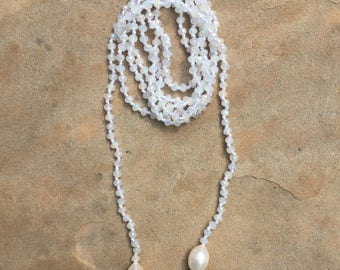 Pearl Lariat Wrap Necklace