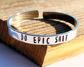 Do Epic Shit bracelet Profanity bracelet Cuss word jewelry