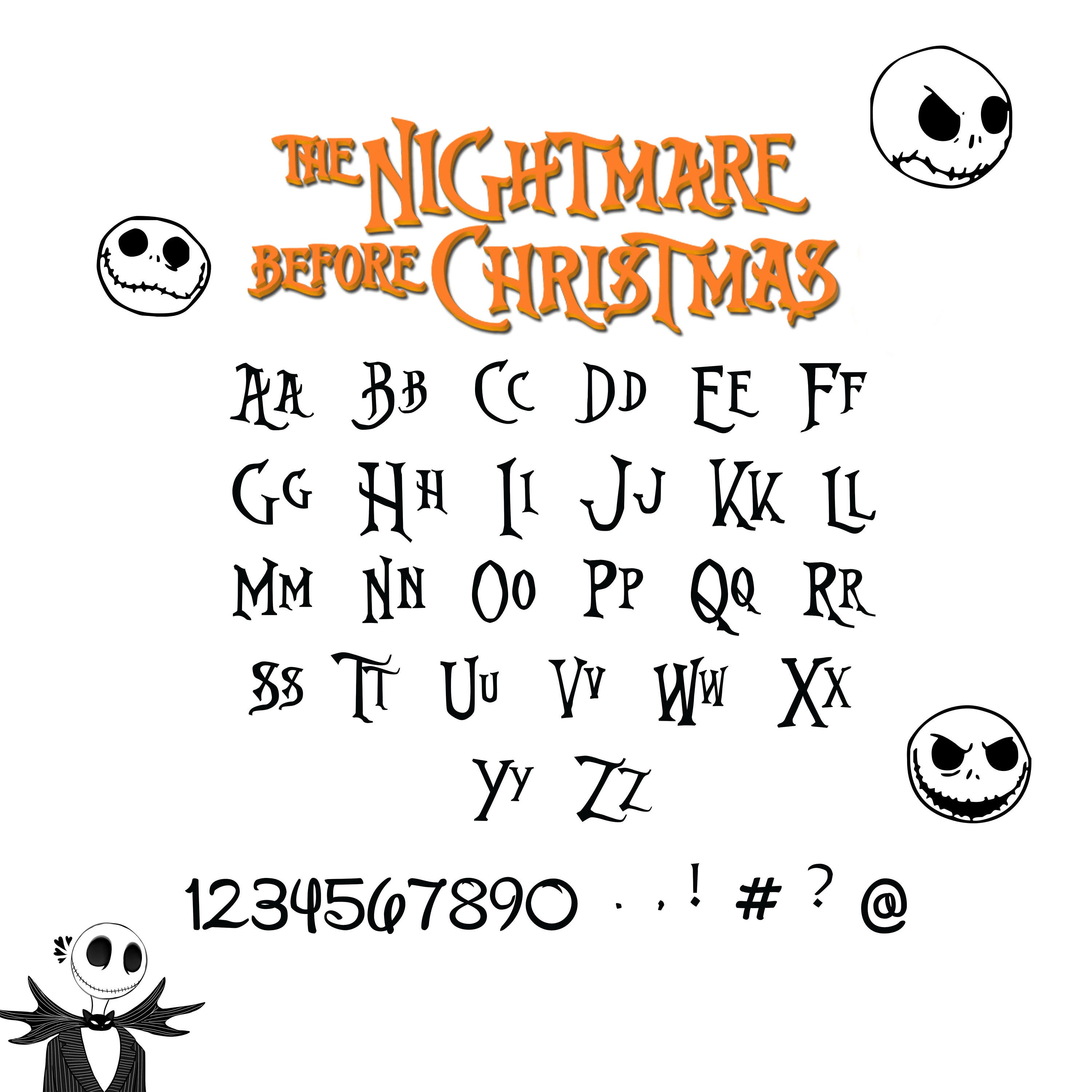 Nightmare Before Christmas Font SvgNightmare Before Christmas