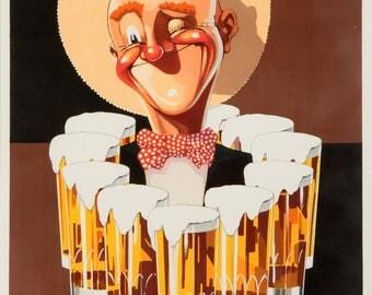 """Retro Advertising-1930-""""Special and vixen"""" VandenkerckhoveN brewery - Vintage art deco advertising Belgium Beer"""