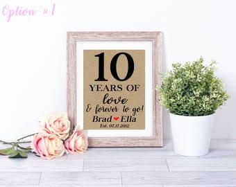 10 Year Wedding Anniversary / 10 Year Anniversary Gifts For Men / 10 Year Wedding Gifts / Anniversary Gifts For Women / Anniversary Gifts