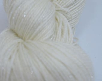 Dyed wool that shines