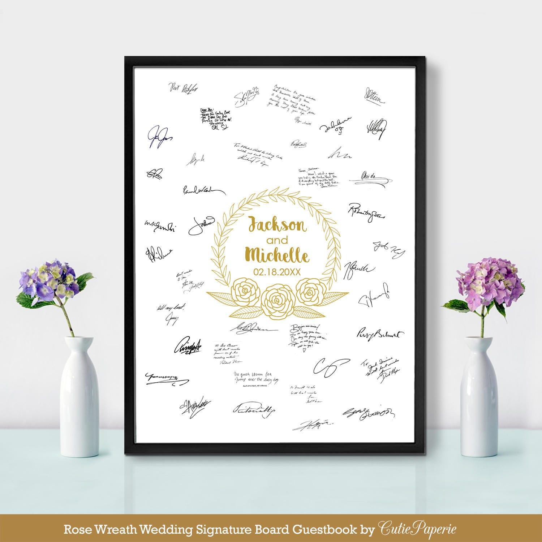 wedding guest book templates