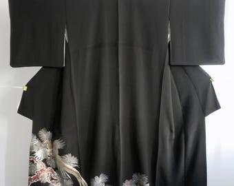 Kimono Japan,silk,crepp silk,chirimen, Tomesode