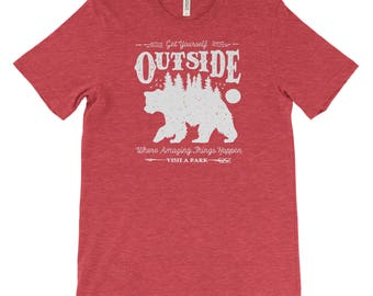 Get Yourself Outside Adventure National Park Unisex Bella Canvas Tshirt
