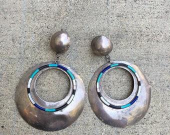 Silver Inlay Earrings
